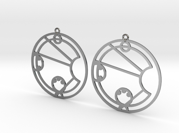Lacey - Earrings - Series 1 in Fine Detail Polished Silver