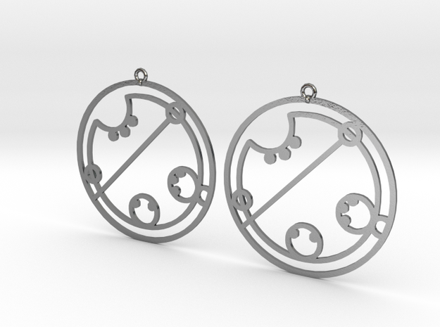 Claire / Klaire - Earrings - Series 1 in Polished Silver