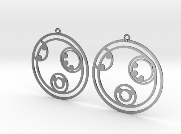Kelly - Earrings - Series 1 in Polished Silver