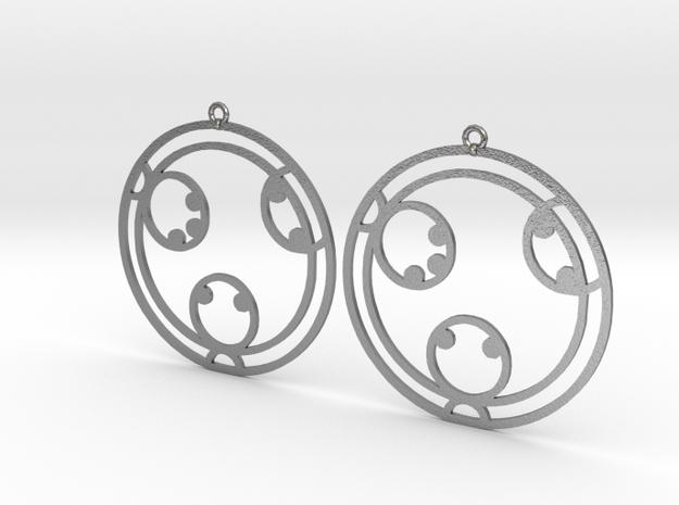 Kayla - Earrings - Series 1 in Raw Silver