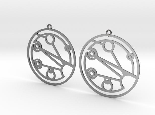 Josephine - Earrings - Series 1 in Premium Silver