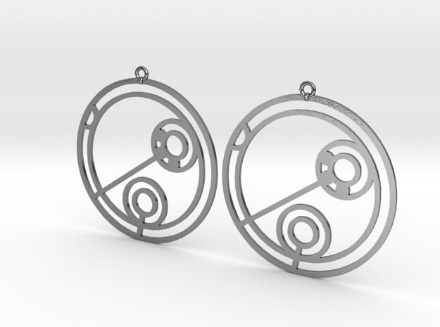 Julia - Earrings - Series 1 in Polished Silver