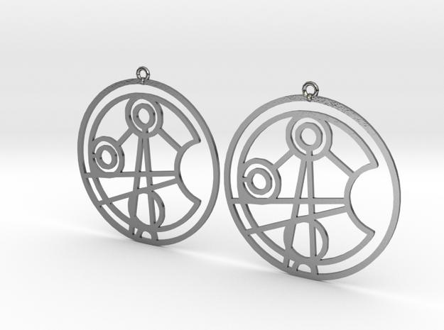 Jasmine - Earrings - Series 1 in Polished Silver
