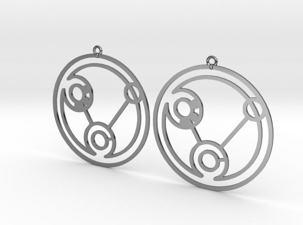 Heidi - Earrings - Series 1 in Fine Detail Polished Silver