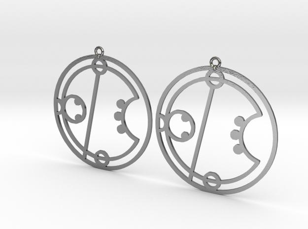 Erica / Erika - Earrings - Series 1 in Polished Silver