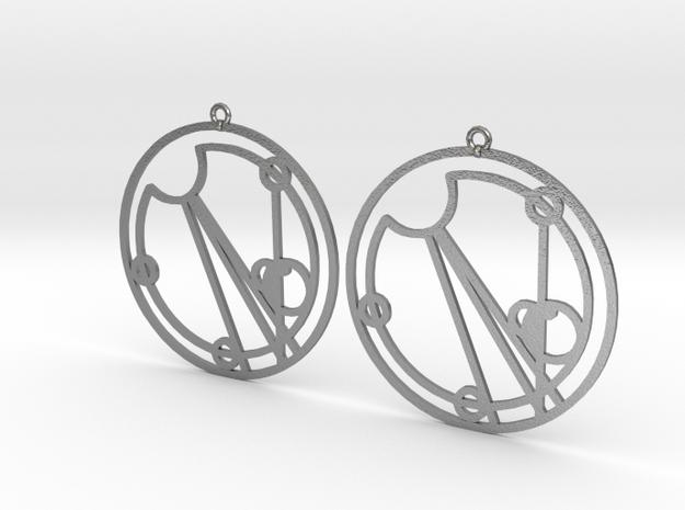 Eloise - Earrings - Series 1 in Natural Silver