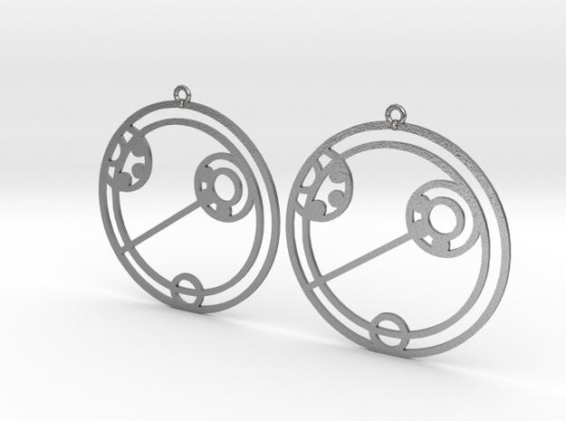 Eliza - Earrings - Series 1 in Natural Silver