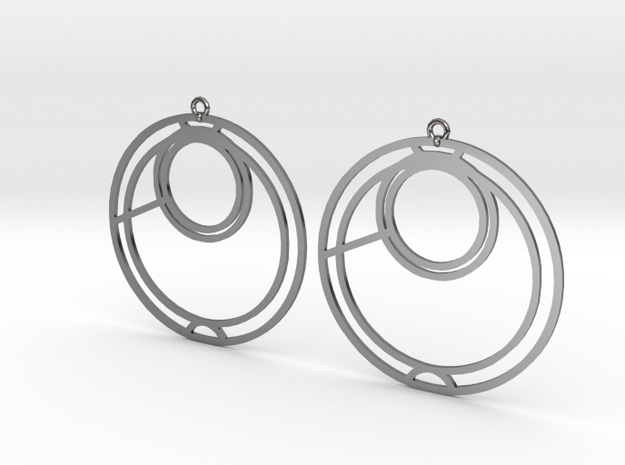 Anna - Earrings - Series 1 in Fine Detail Polished Silver