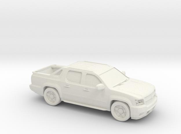 1/87 2008 Chevrolet Avalanche LTZ in White Natural Versatile Plastic
