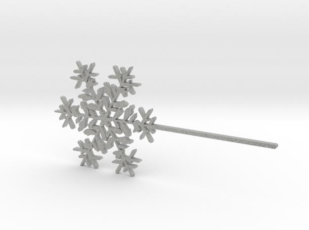 Snowflake #6 Cupcake or Treat Topper Pick in Metallic Plastic