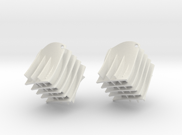 Diamond wave mesh in White Natural Versatile Plastic