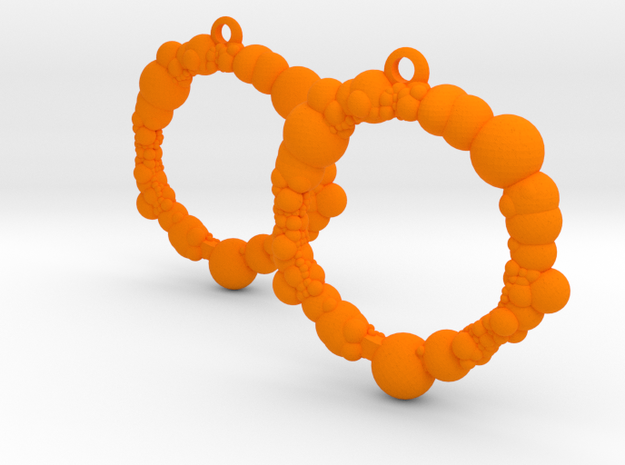 Bubble Loop in Orange Processed Versatile Plastic