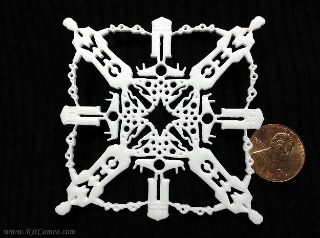 Doctor Who: Tenth Doctor Snowflake in White Processed Versatile Plastic