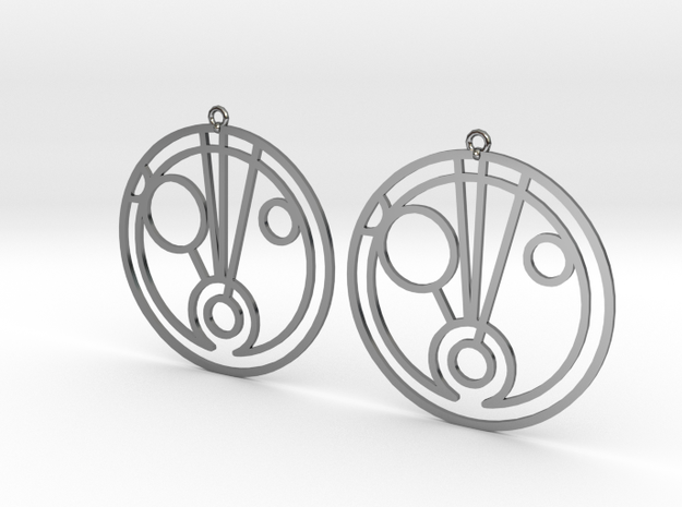 Fiona - Earrings - Series 1 in Fine Detail Polished Silver