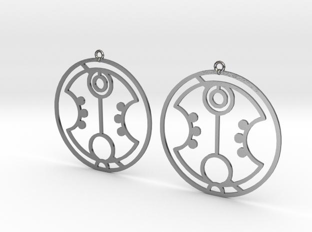 Harper - Earrings - Series 1 in Polished Silver