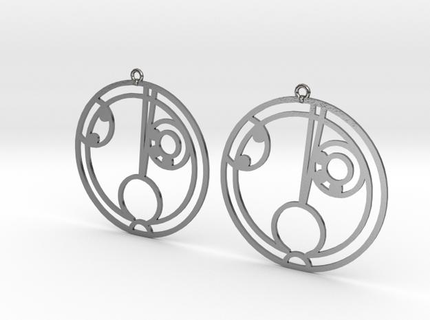 Haley - Earrings - Series 1 in Polished Silver