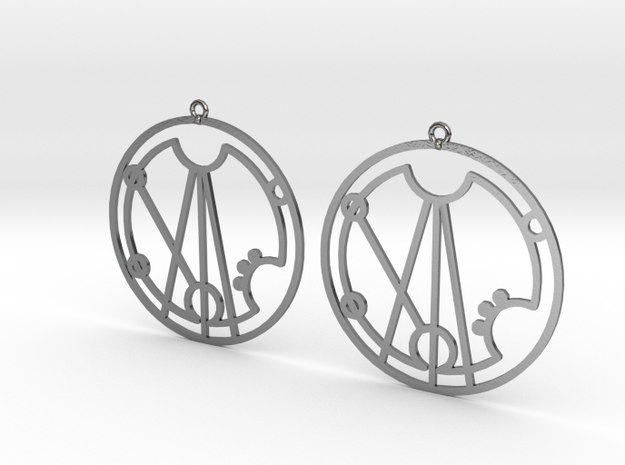 Gracie - Earrings - Series 1 in Polished Silver