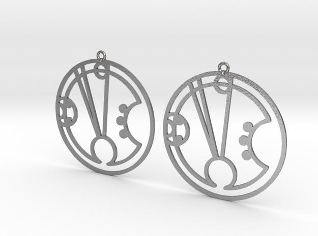 Freya - Earrings - Series 1 in Natural Silver