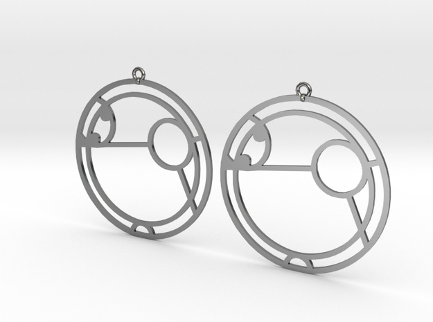Amy - Earrings - Series 1 in Premium Silver