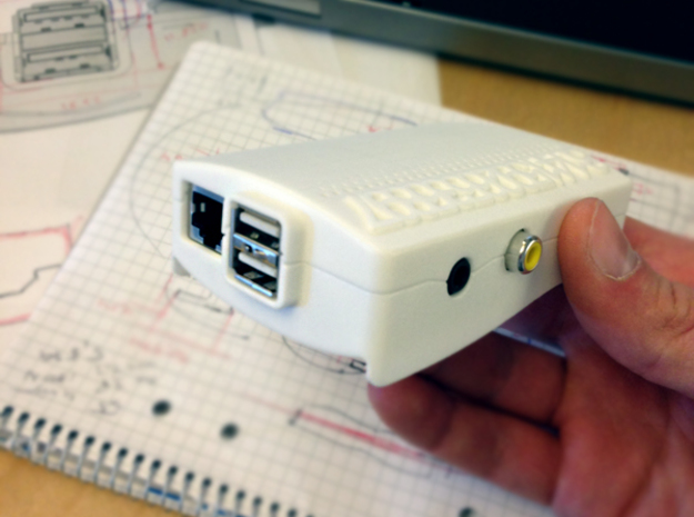 Raspberry Pi Case : theKranko v1.0 in White Natural Versatile Plastic