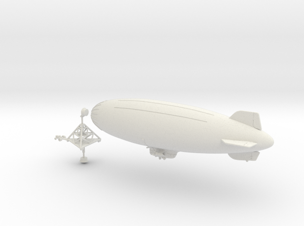 K Ship with Mobile Mooring Mast in White Strong & Flexible: 1:700