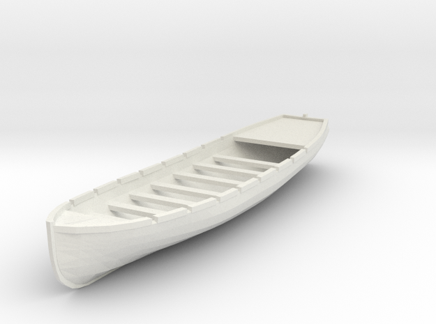 Osage/Neosho 28 ft Longboat. 1/4 Scale in White Strong & Flexible