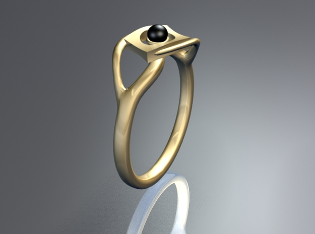TwoYearsTogether ring in Polished Nickel Steel