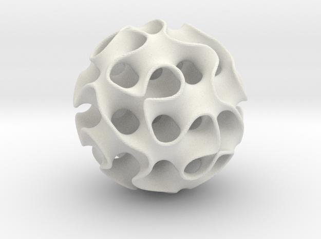 Schwartz D ball, 1 mm in White Natural Versatile Plastic