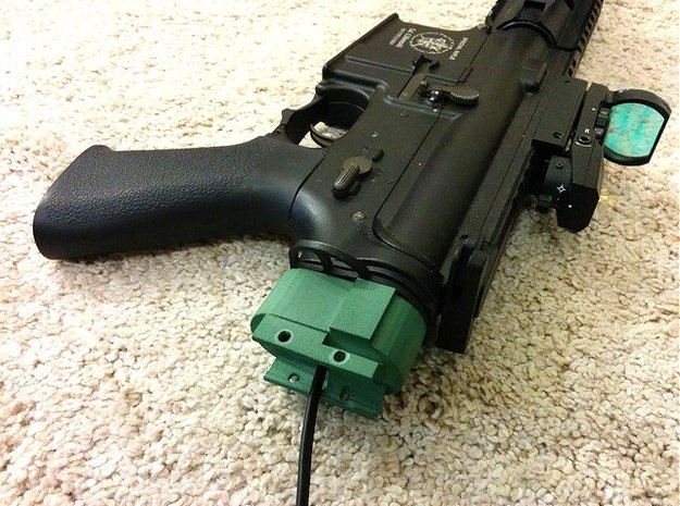 M4 Receiver Picatinny Mount Adapter Mark I in Green Processed Versatile Plastic
