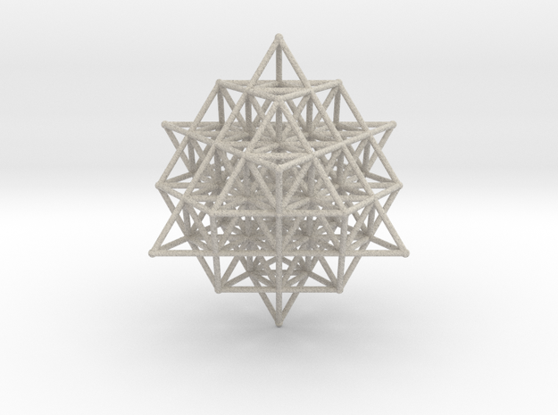 64 Tetrahedron Grid Large 190mm Isotropic Vector M in Sandstone