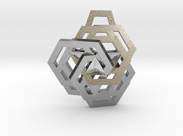 Triple Hexagon Pendant