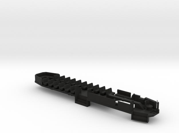O Scale B&QT 6000 Floor/Interior #1 in Black Natural Versatile Plastic