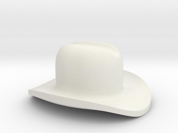Assem1 - Cowboy Hat-1 in White Natural Versatile Plastic