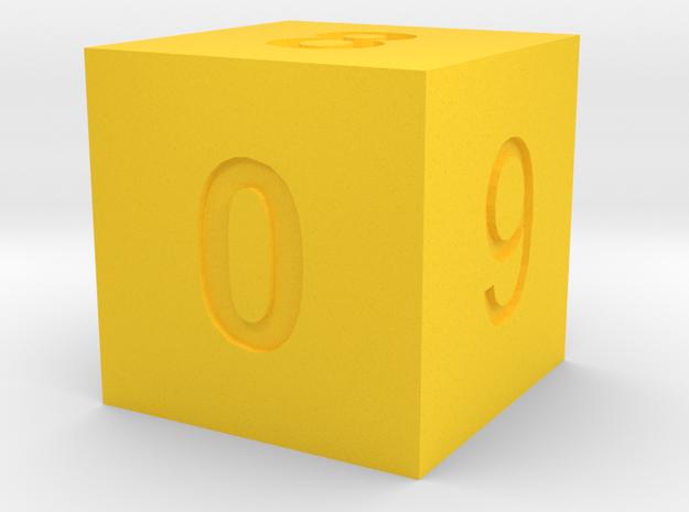Calendar5 in Yellow Processed Versatile Plastic