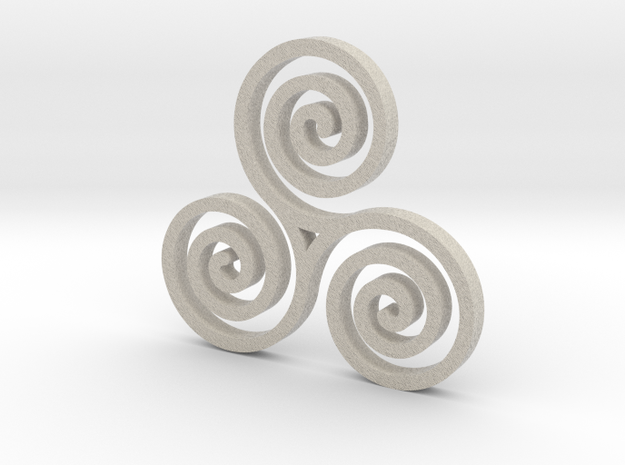 Triple Spiral in Natural Sandstone