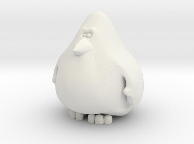 Penguin 6cm in White Natural Versatile Plastic