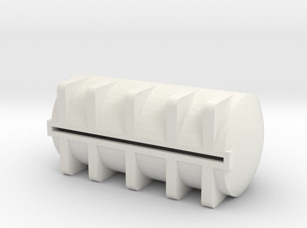 1/64 S scale 5025 gal. Horizontal Leg Tank in White Natural Versatile Plastic