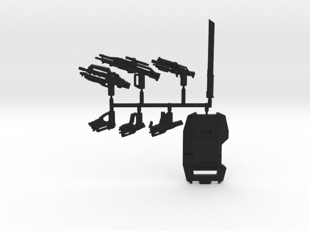 Cerberus Weapons Pack in Black Natural Versatile Plastic