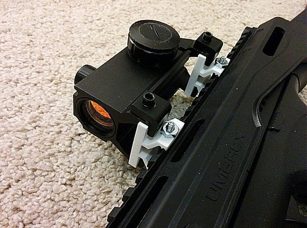 Mount MP5 Scope to Picatinny Rail Adapter in White Natural Versatile Plastic