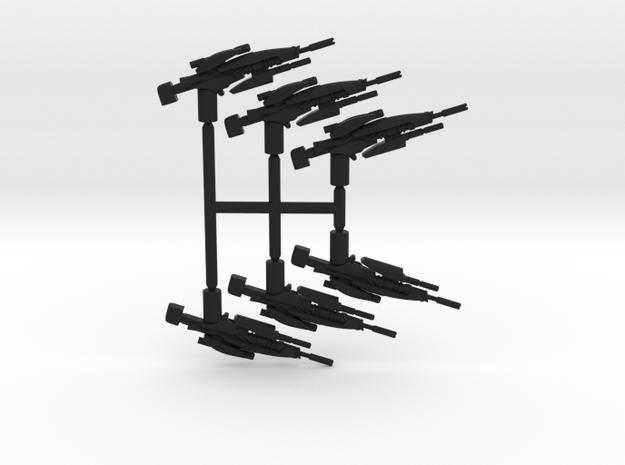 Plasma Sniper Rifle Pack in Black Natural Versatile Plastic