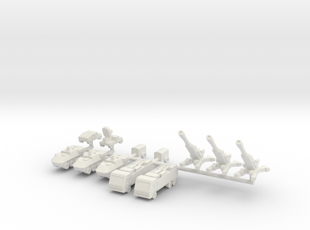 1/285 155mm M777 Gun Section in White Natural Versatile Plastic
