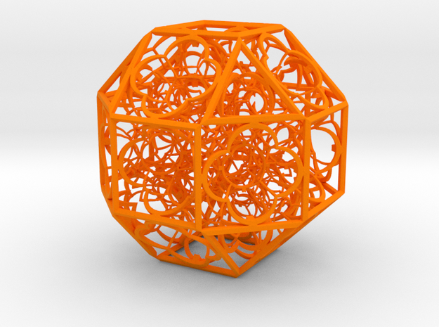 Hyper Geometry BB2 100mm Plastic in Orange Processed Versatile Plastic