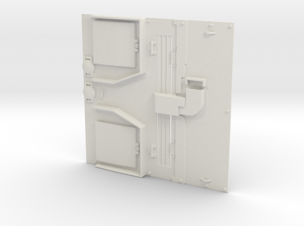 1/16 IDF Late M50 Engine deck for the HengLong M4 in White Natural Versatile Plastic