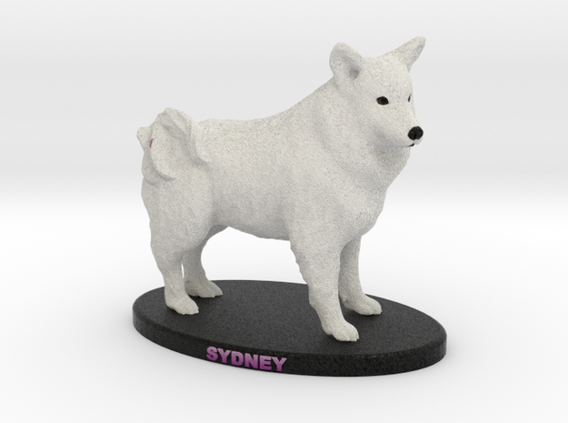 Custom Dog Figurine - Sydney in Full Color Sandstone