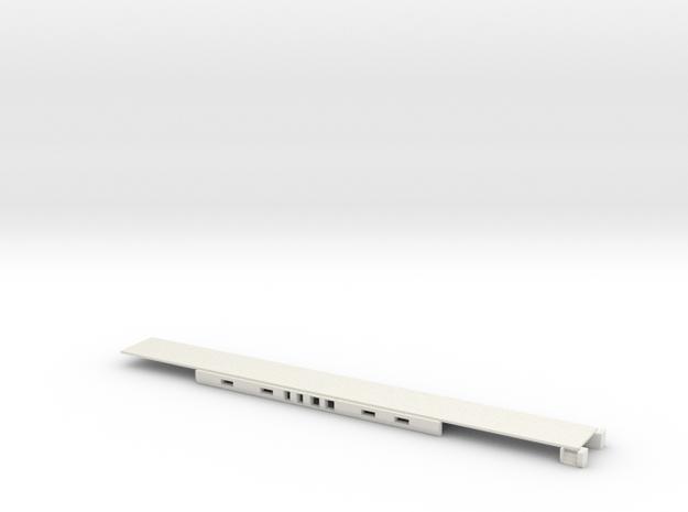 1:160 Alaska Railroad Ultradome Floor in White Natural Versatile Plastic