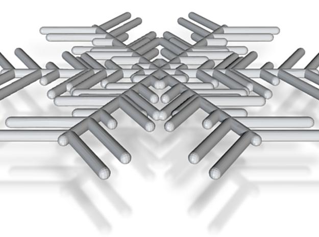 Snowflakes Series I: No. 2 3d printed