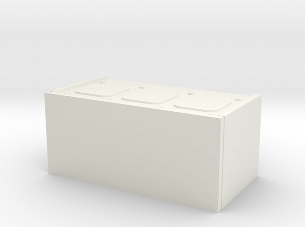 1/16 scale Firefly Radio Box in White Natural Versatile Plastic