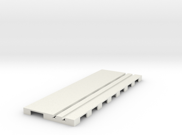 P-65stp-straight-road-110-100-pl-1a in White Natural Versatile Plastic