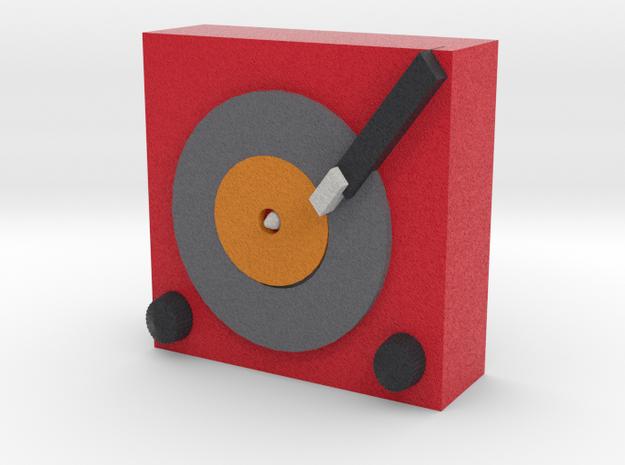 Record Player in Full Color Sandstone