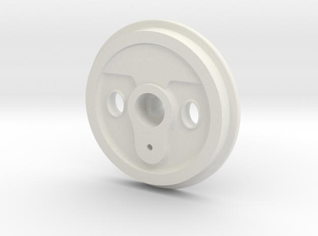 Krauss-7 8thsWheel Ver1-19-10-13 in White Natural Versatile Plastic